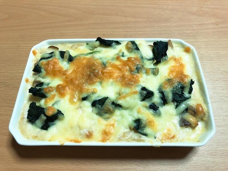 豆腐とチーズとのグラタン