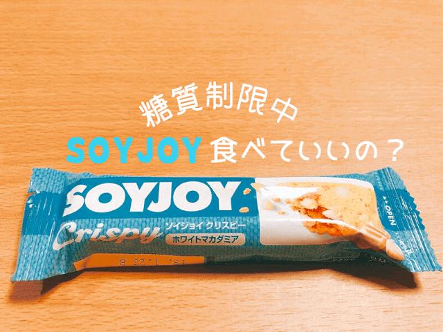 糖質制限中の『ソイジョイ』はあり?なし?間食(お菓子・おやつ)編